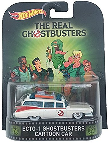 Hot Wheels Ecto-1 Ghostbusters Cartoon Car The Real Ghostbusters 2015 Retro Series 1/64 Die Cast Vehicle by