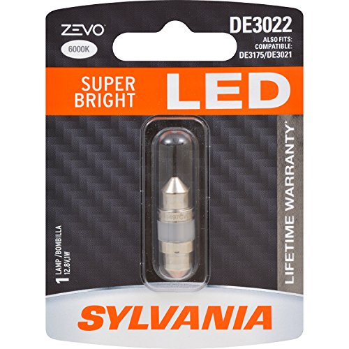 SYLVANIA ZEVO DE3022 31mm Festoon White LED Bulb, (Contains 1 Bulb)