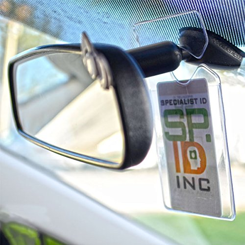 Clear Vertical Vehicle Parking Pass Hang Tag Holder by Specialist ID (2-Pack) Photo #3