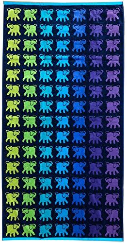 TEXTIL TARRAGO Toalla de Playa 90x170 cm 100% Algodon Egipcio Elefantes EGP480