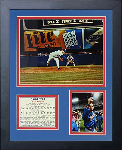 Nolan Ryan - 300th Win 11' x 14' Framed Photo Collage by Legends Never Die, Inc.