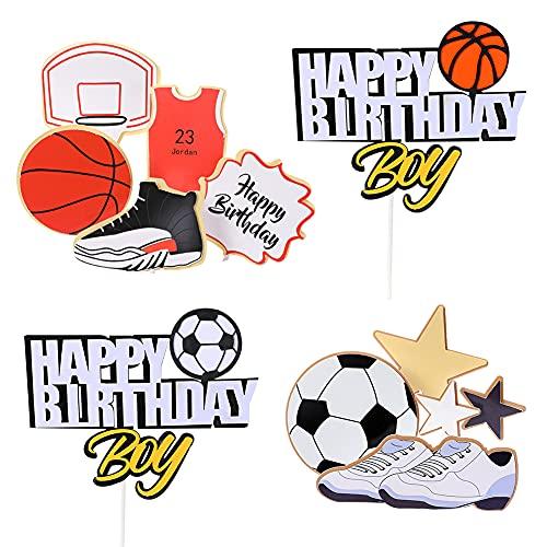 4Pcs Gâteau de Basketball, Décor...