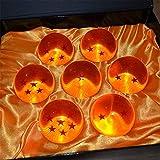 MEETOZ - 7 bolas de cristal de resina acrílica grandes, con caja de regalo, diseño de dragón, transparentes, para jugar