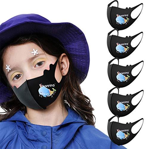Best Bargain Child Kids Reusable Cartoon Print Breathable Safe Protection Stretch bandana,soft fresh...