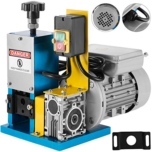 Happybuy Cable Wire Stripping Machine 1.5-25mm Automatic Electric Wire Stripping Machine 1 Channel Portable Blue Wire Stripper Machine Tool for Scrap Copper Recycling