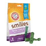 Arm & Hammer For Pets Brushies Dental Treats for Dogs | Dental Chews Fight Bad Breath, Plaque & Tartar without Brushing | Mint Flavor, 8 Pcs (FF7617)