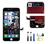 ZTR Repair LCD Screen Replacement for iPhone 7 4.7 Inch Full Assembly Display with Tools Kit in Black