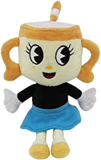 FidgetKute 10'' for Cuphead Game Ms. Chalice Plush Figure Toy Soft Stuffed Doll for Kids