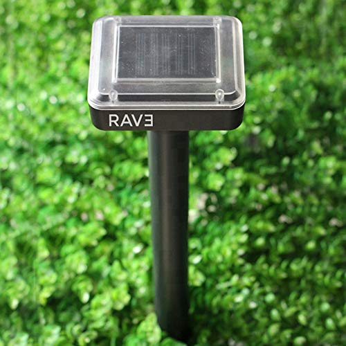RAV3 Mole & All Other Burrowing Animals' Heavy-Duty Repellent Stakes | Pack of 4 | Solar Powered | Ultrasonic | Weatherproof
