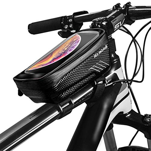 Acmind Bike Phone Mount Bag, Waterproof Bike Frame Handlebar Bag, Bicycle Top Tube Cycling Accessories with Waterproof Touch Screen Phone Case