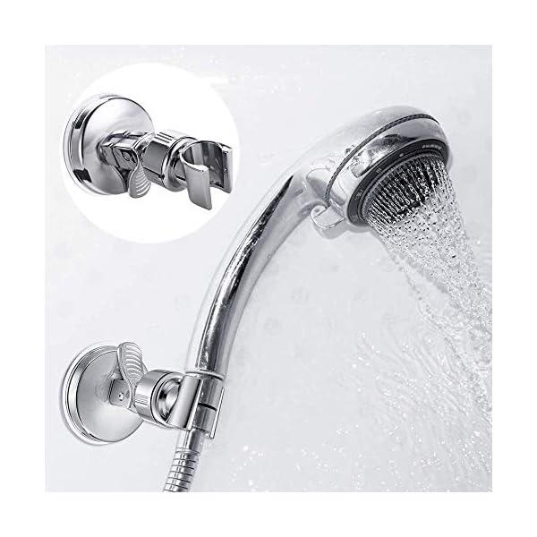 Feliciay Soporte de cabezal de ducha con abrazadera de repuesto ajustable, soporte extraíble montado en la pared…