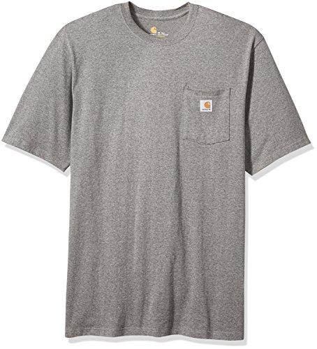 Carhartt Men's K87 Workwear Pocket Short Sleeve T-Shirt (Regular and Big & Tall Sizes), Granite Heather, X-Large