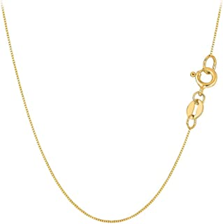 14k Yellow Gold .5MM Solid Box Chain Necklace