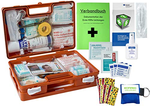 WM-Teamsport Sport-Sanitätskoffer S1 Plus Erste-Hilfe Koffer nach DIN 13157 + DIN 13164 + Sport-Ausstattung