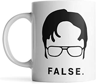 Funny Coffee Cup,Ceramic Coffee Mug,PaPa Mugs, Dwight Schrute Coffee Mug,Funny Gift (White,11ounces)