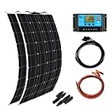 XINPUGUANG 2pcs 100w Monocrystalline Solar Panel Flexible 200W 12V Solar System kit Photovoltaic Module Cell 20A Controller PV...