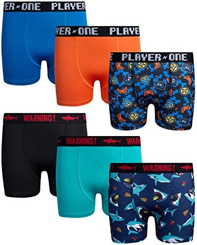 Only Boys Compression Shorts Boys Dry Fit Performance Boxer Briefs Active Underwear Size 12 product image