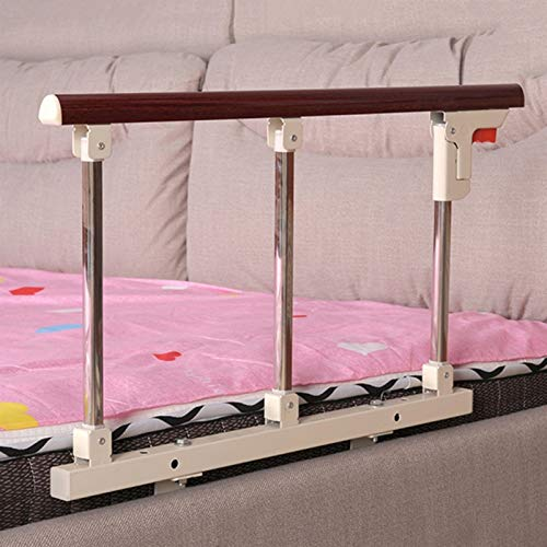 Elderly Bed Rail, Fold Bed Rail, Safety Anti-Fall Bed Guardrail, Handicap Medical Assistance Devices for Home Care, 3 colors GUORRUI (Color : Red, Size : 70x40cm)