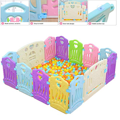 Discover Bargain Baby Playpen 14 Panel Foldable Panel Fence Play Center Home Indoor Outdoor Kids, To...