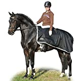 Hkm Horse Riding Waterproof Quarter Polar Fleece Showing Breathable Exercise Sheet