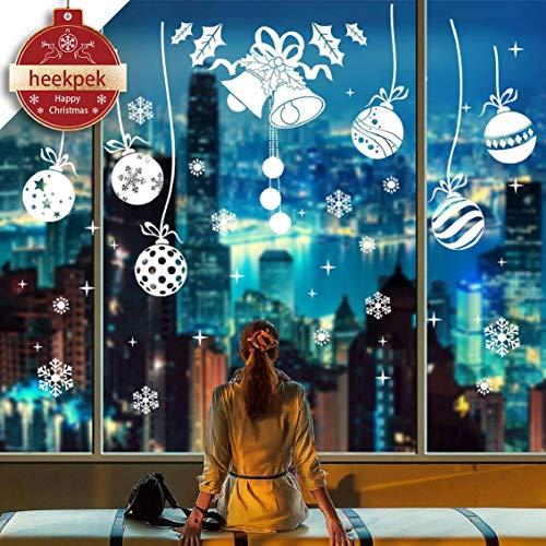 heekpek Pared de la Navidad Etiqueta Feliz Navidad Creativa de la Ventana del Copo De Nieve Pegatinas Dormitorio Sala de la Pared del Sitio