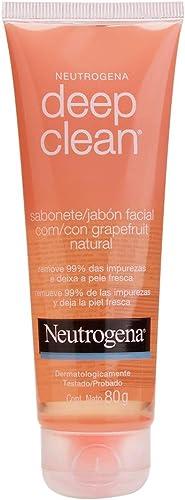 Sabonete Facial Deep Clean Grapefruit, Neutrogena, 80 g