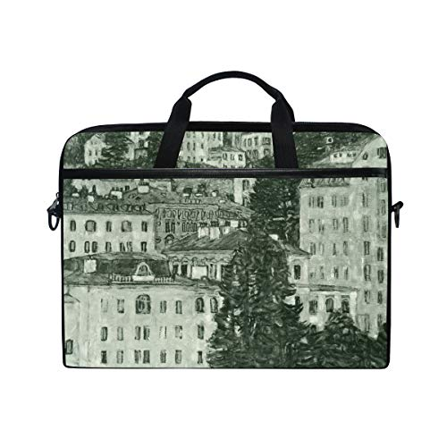 Ahomy 13.3-14 Inch Laptop Bag, Art Wall By Gustav Klimt Multifunctional Fabric Waterproof Laptop Case Briefcase With Shoulder Strap
