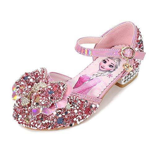 Fanessy Zapatos princesa niña Zapatos de tacón princesa Elsa Zapatillas de ballet...