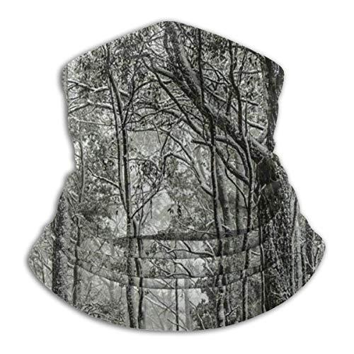 Randy-Shop mooie landschap van sneeuw bedekt kauwgom bomen bos O Australische Fleece nek Warmer nek Gaiters Unisex