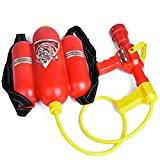 FUN LITTLE TOYS Fireman Toys Backpack Watergun Blaster Extinguisher with Nozzle and Tank Set Children Outdoor Water Toy, Beach Toy, Summer Toys, Bath Toy for Kids Gifts