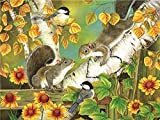 QHZCJ Pintura por número de Kit Ardilla del Bosque Pintura por números Bricolaje Pintura de Lona para Adultos y niños con Pinturas acrílicas y 3 Pinceles 40x50 cm (sin Marco)