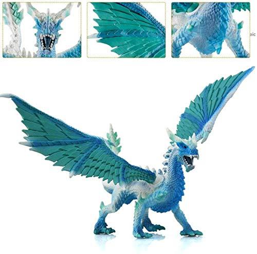 Pterosaurio Modelo de Juguete, Juguetes de niños de educación, el Hielo y la Nieve tormenta, dragón Dragón Modelo de simulación de Buceo Colección del Ornamento lalay (Color : Icecrystalstormdragon)