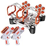 USA Toyz AstroShot Gyro Rotating Target Shooting Game - Nerf Compatible Spinning Targets w/ 2 Blaster Toy Guns and 24 Foam Darts