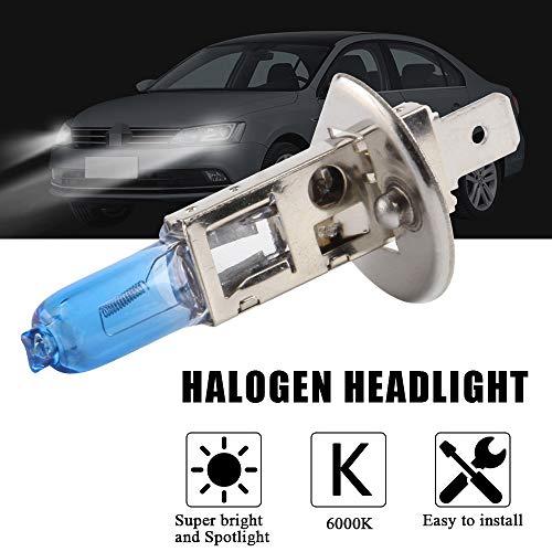 2Pcs H1 100W Super Bright White 6000K Halogen Xenon Light Bulb 12V Car Headlight Fog Light Lamp Replacement