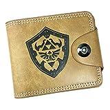 WANHONGYUE The Legend of Zelda Juego Cartera de Cuero Artificial Monedero Tríptico Billetera Clásico Portatarjetas para Hombre /4