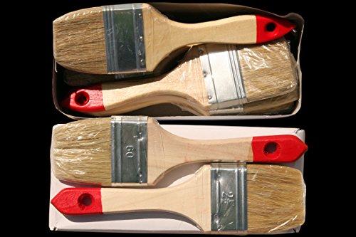 12 x Flachpinsel 60 mm Chinaborste hell Maler Lack Lasur Abwasch Allzweck Einweg Industrie Pinsel Lasurpinsel Lackierpinsel