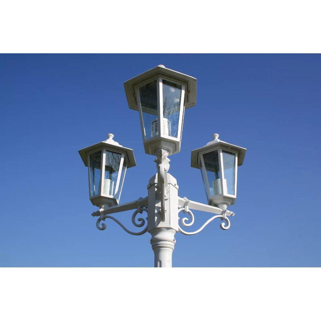 Furnituredeals lamparas de jardin Farola de jardin blanca de 215 cm, 3 luces, Kingston lamparas de jardin exterior: Amazon.es: Bricolaje y herramientas