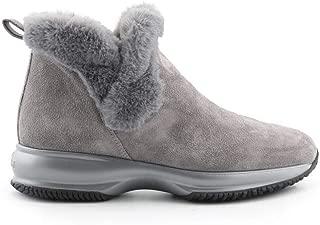 HOGAN Luxury Fashion Womens HXW00N0AL80K6VB800 Grey Ankle Boots   Fall Winter 19