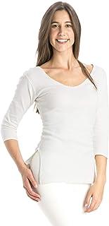 JOCKEY Off White Square Neck Wrap Top For Women