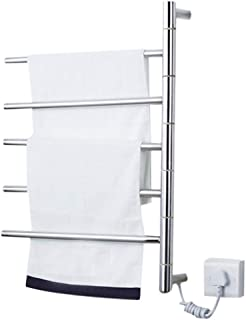 FREIHE Toallero Radiador Estante para Calentar la Ropa, Ropa eléctrica calentada Toalla de lavandería Secadora de Aire Acondicionado 5 Bar Estante para Toallas Toallero Estante de Almacenamiento par