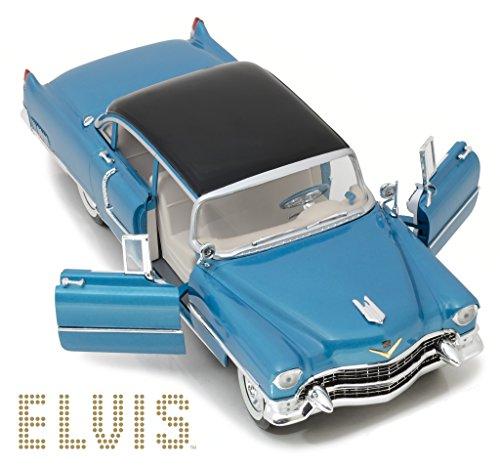 Elvis Presley's 1955 Cadillac Fleetwood Series 60 Special Blue 1/18 Diecast Car Model by Greenlight 13502