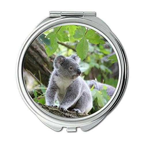 Yanteng Spiegel, Reise-Spiegel, tierisches nettes Pelz, Taschenspiegel, beweglicher Spiegel