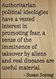 Mundus Souvenirs - Ideologías políticas autoritarias tienen cita de Susan Sontag grabada con...