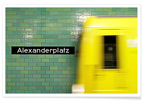 """JUNIQE® Berlin Poster 40x60cm - Design """"Reaching Alex"""" entworfen von Michael Belhadi"""