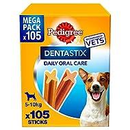 Pedigree DentaStix Daily Dental Chews Small Dog 5-10kg 105 Sticks