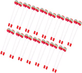 lahomia 30 Pack Drum Mallet Knock Stick Kids Baby Early Develop Instrumental Toy