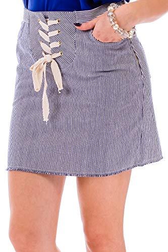 ÇA VA BIEN FASHION] Falda Corta Sexy De Verano - Mini Falda Fiesta Corta Mujer | Mini Falda con Cuerda Cinturón