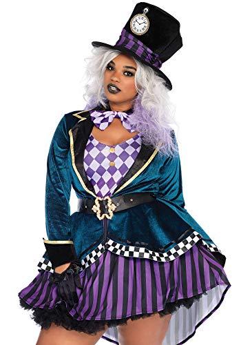 shoperama Delightful Hatter Leg Avenue Damen-Kostüm - Verrückter Hutmacher Alice im Wunderland, Größe:XL/XXL