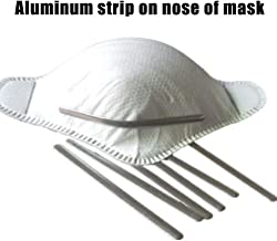 Draht-Riemen Nasensteg-Clip Litthing 100pcs Nasenr/ücken,Aluminium,Nasensteg-Streifen f/ür DIY handgefertigtes Basteln Metallstreifen 200 St/ück Silber