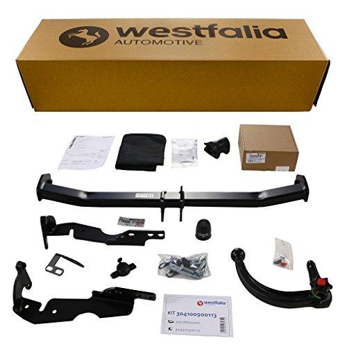 Westfalia Abnehmbare Anhängerkupplung - AHK für Citroen C4 Picasso (inkl Grand Picasso) (BJ 11/2006 - 01/2011) im Set mit 13-poligem fahrzeugspezifischen Elektrosatz